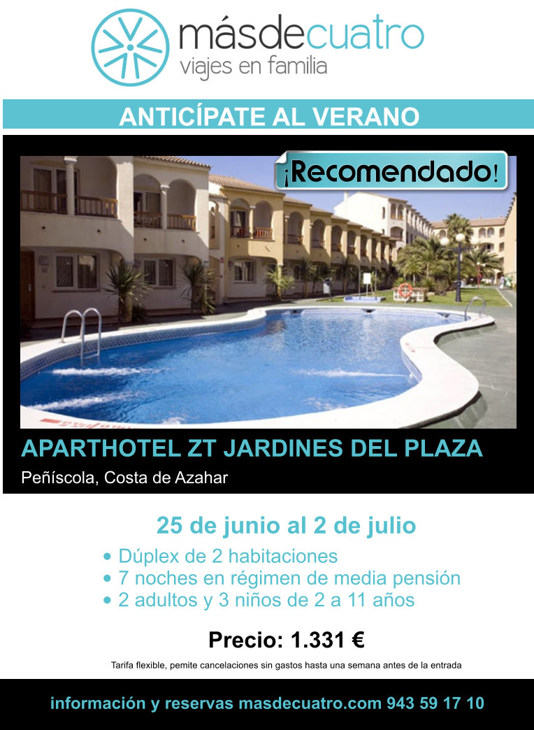 Aparthotel jardines del plaza en pe scola for Jardines del plaza peniscola