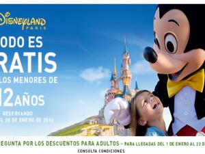 Niños Gratis hasta 12 años en Disneyland París
