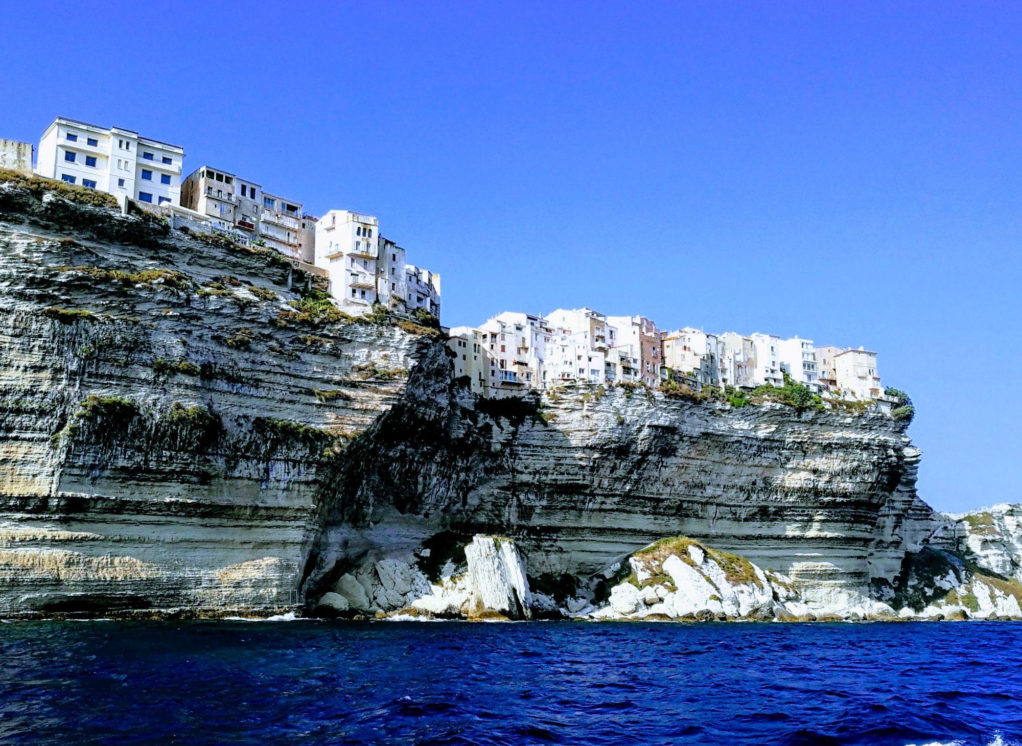 Bonifacio, impresionante vista desde el mar.