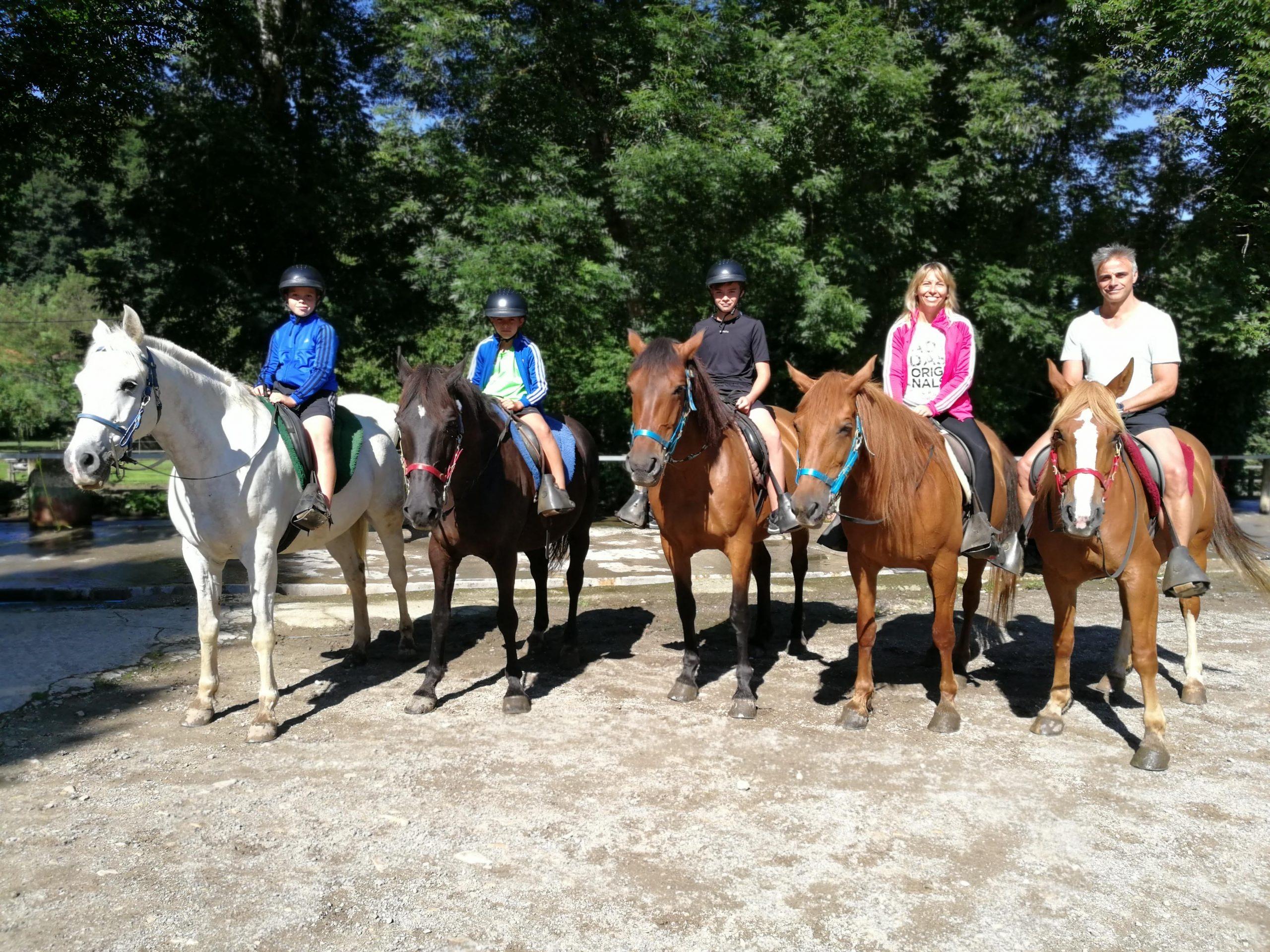 a caballo en familia numerosa